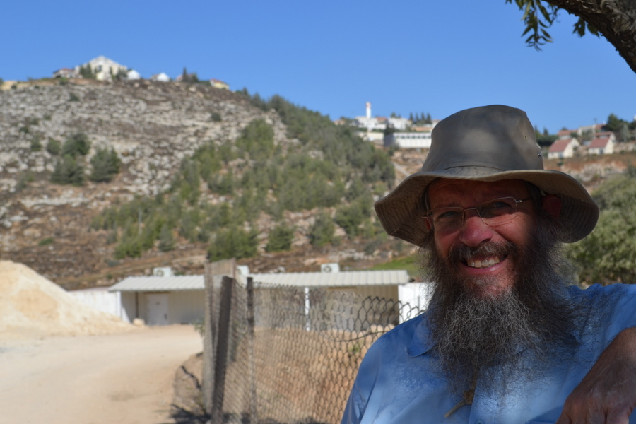 "Jewish settler Dovid Ben-Meir, Shiloh, \""Samaria\"" (northern West Bank)"