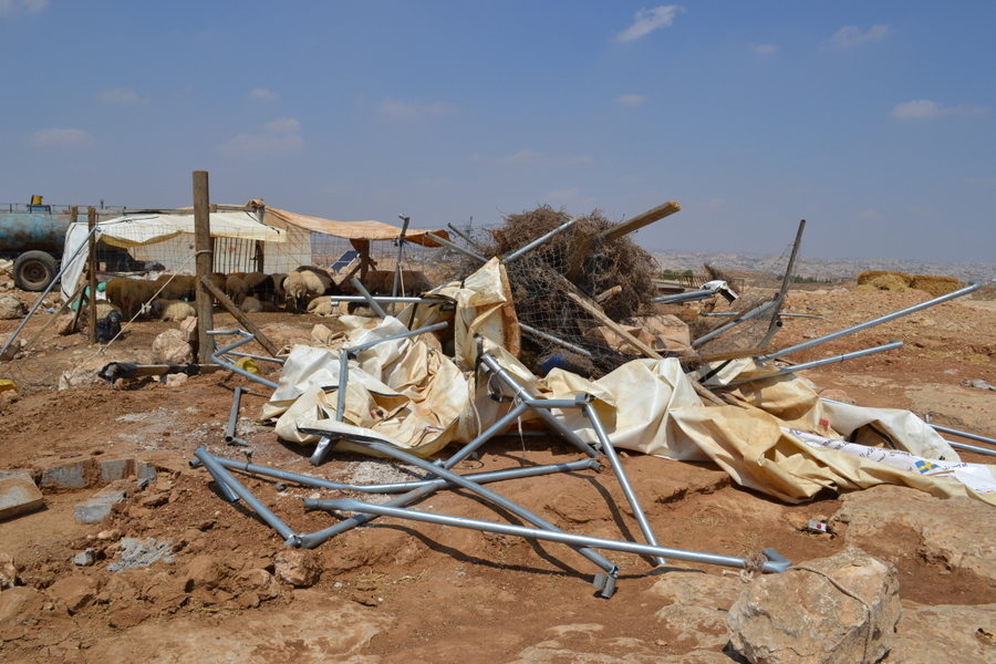 Wreckage from Israeli bulldozer