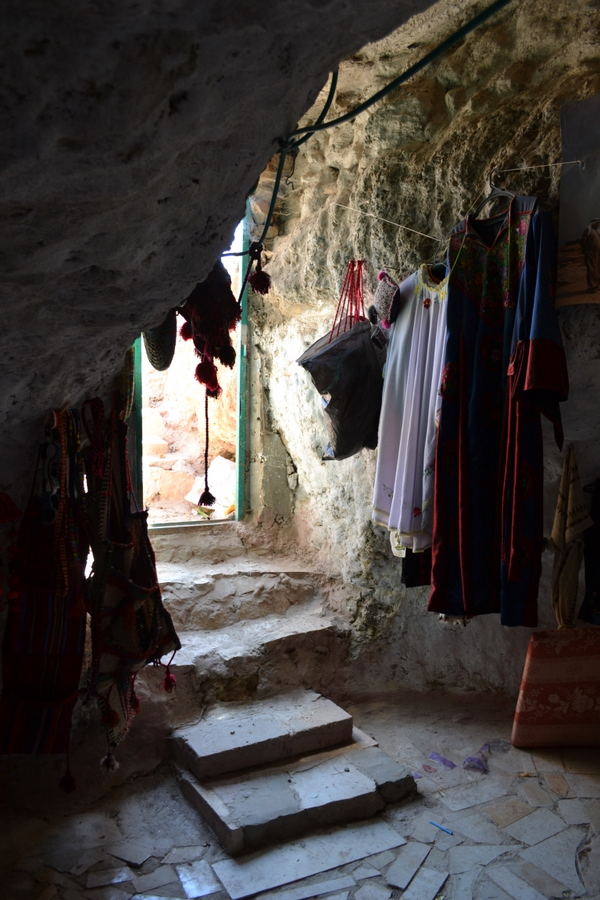 Susya embroidery shop, inside cave