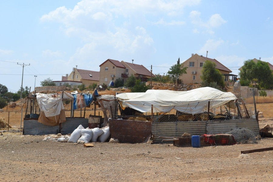 Bedouin village, beside Jewish settlement of Carmel