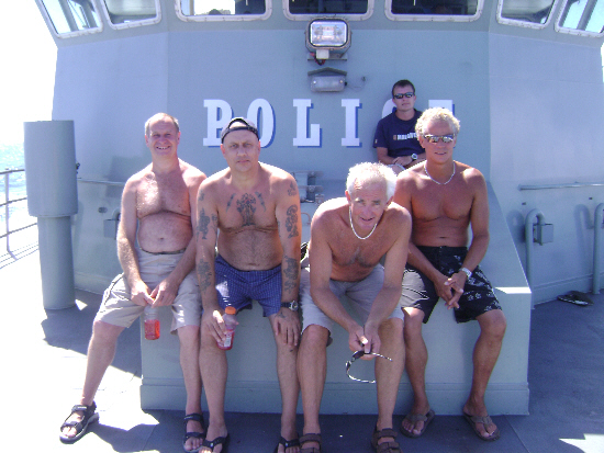 Rescued divers