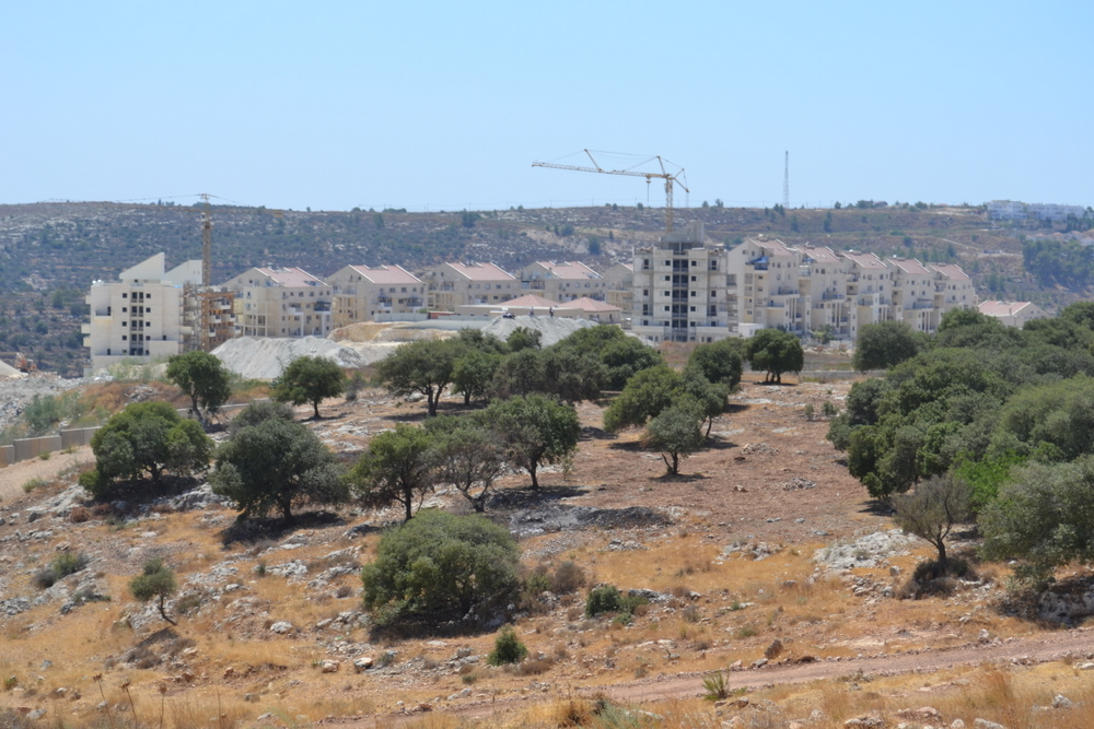 Jewish settlement of Modi\'in Illit in distance