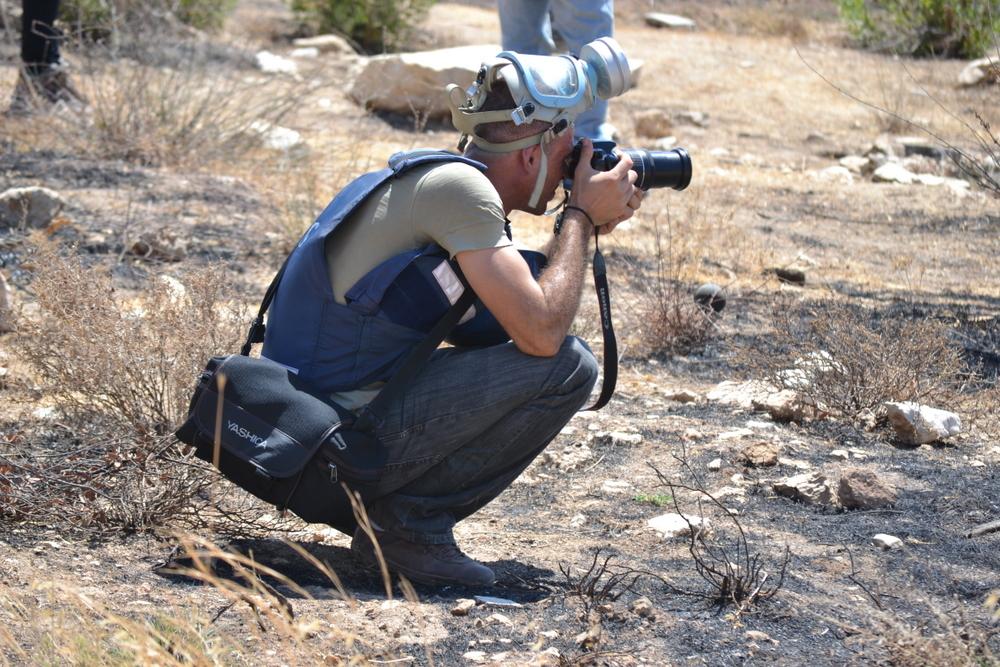 Journalist comes prepared