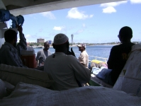 On a boat to Zanzibar