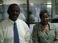 Cosmas Takule & Asteria Mlambo, Dar Rapid Transit office